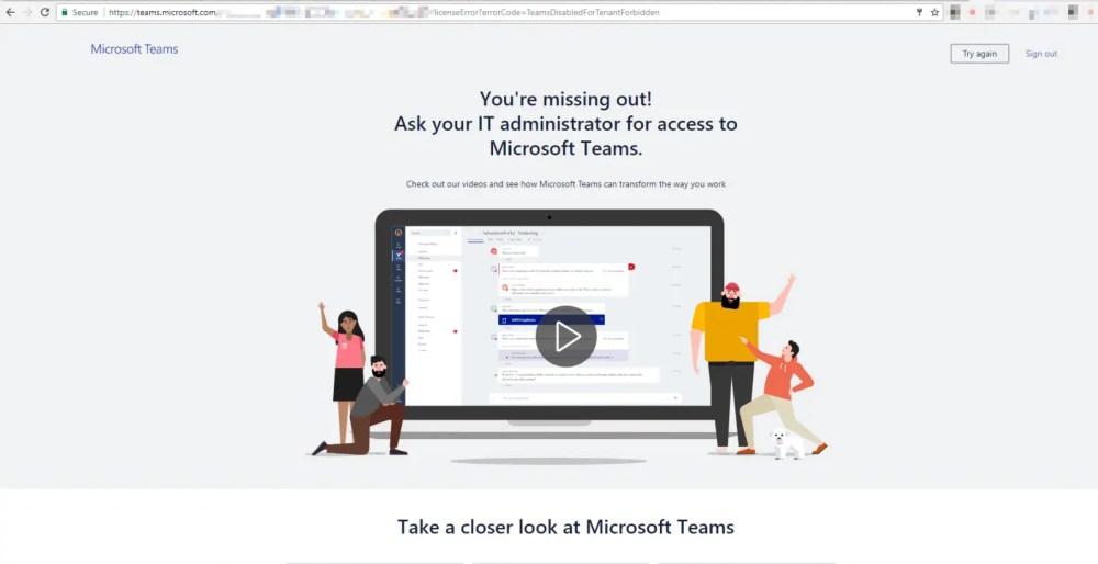 Teams Guest access error