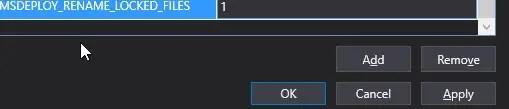 Adding a new Application Setting