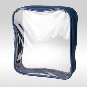 Прозрачная косметичка-сумка цвета неви