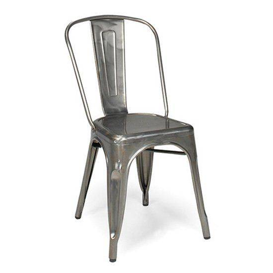 chaise industrielle metal style