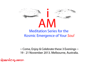 I AM Meditation Series For Kosmic Emergence