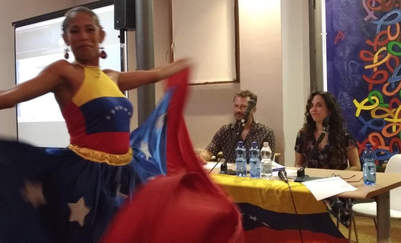 Escuderos del Venezuela a Milano con Hebe Munoz