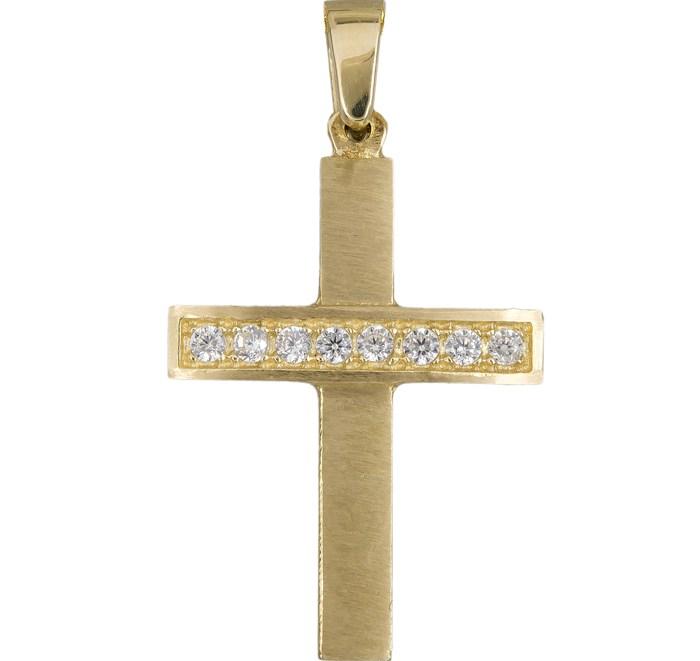 Χρυσός γυναικείος σταυρός K14 012303 012303 Χρυσός 14 Καράτια