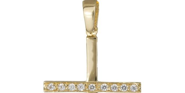 Χρυσός σταυρός με πέτρες 14Κ 012311 012311 Χρυσός 14 Καράτια