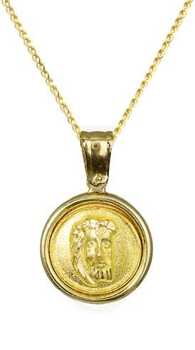 Χρυσό φυλαχτό Κ14 c010195 010195C