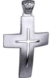 Σταυροί Βάπτισης - Αρραβώνα ΜΑΤ ΛΕΥΚΟΧΡΥΣΟΣ ΣΤΑΥΡΟΣ 14K 014731 014731 Ανδρικό Χρυσός 14 Καράτια