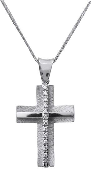 Βαπτιστικοί Σταυροί με Αλυσίδα Είδη Βάπτισης | Κορίτσι c014966 014966C Γυναικείο Χρυσός 14 Καράτια