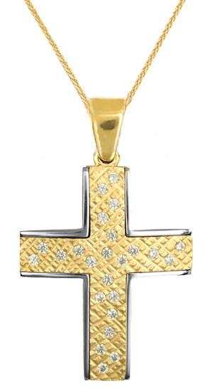 Βαπτιστικοί Σταυροί με Αλυσίδα ΒΑΠΤΙΣΤΙΚΑ ΕΙΔΗ - ΣΤΑΥΡΟΣ ΜΕ ΑΛΥΣΙΔΑ C016612 016612C Γυναικείο Χρυσός 14 Καράτια