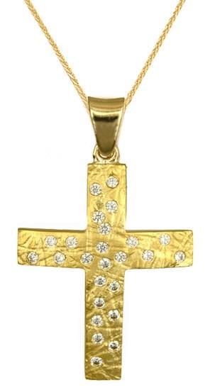Βαπτιστικοί Σταυροί με Αλυσίδα ΒΑΠΤΙΣΤΙΚΑ ΕΙΔΗ - ΣΤΑΥΡΟΙ ΣΕΤ ΜΕ ΑΛΥΣΙΔΑ C016727 016727C Γυναικείο Χρυσός 14 Καράτια