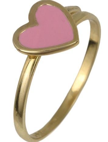 Χρυσό παιδικό δαχτυλίδι καρδιά 017788 017788