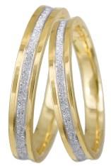 Δίχρωμες βέρες γάμου Κ9 026033 026033 Χρυσός 9 Καράτια 2018