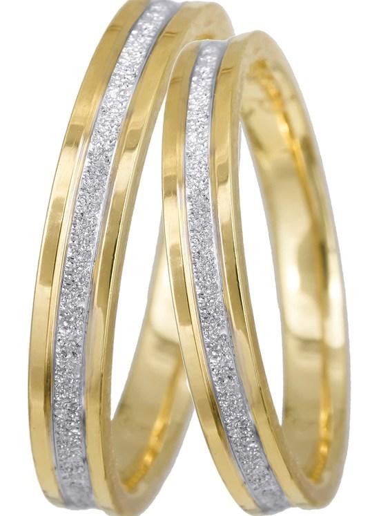 Δίχρωμες βέρες γάμου Κ9 026033 026033 Χρυσός 9 Καράτια