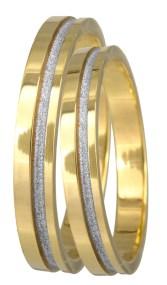 Βέρες γάμου δίχρωμες Κ14 022685 022685 Χρυσός 14 Καράτια