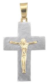 Σταυροί Βάπτισης - Αρραβώνα Ανδρικός σταυρός διπλής όψης Κ14 023119 023119 Ανδρικό Χρυσός 14 Καράτια