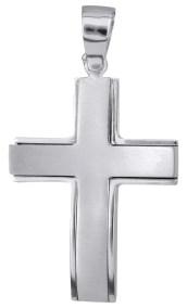 Σταυροί Βάπτισης - Αρραβώνα Λευκόχρυσος αντρικός σταυρός Κ14 023282 023282 Ανδρικό Χρυσός 14 Καράτια