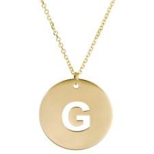 Πλακέτα κολιέ με το μονόγραμμα G Κ14 025068 025068 Χρυσός 14 Καράτια