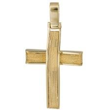 Σταυροί Βάπτισης - Αρραβώνα Χρυσός σταυρός 18Κ σύρμα 025606 025606 Ανδρικό Χρυσός 18 Καράτια