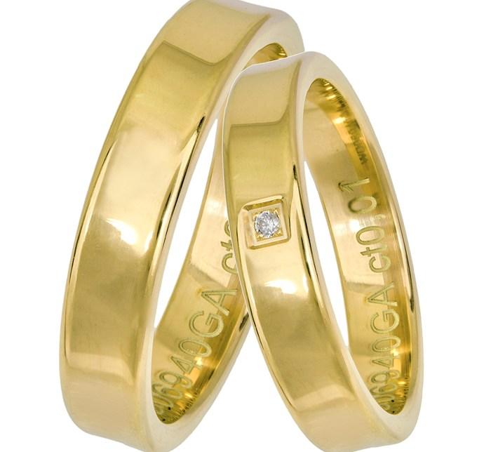 Χρυσές βέρες με διαμάντι Κ14 025676 025676 Χρυσός 14 Καράτια