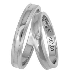 Βέρες γάμου λευκόχρυσες Κ14 χειροποίητες 025685 025685 Χρυσός 14 Καράτια