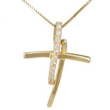 Χρυσός γυναικείος σταυρός Κ14 026417C 026417C Χρυσός 14 Καράτια