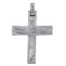 Σταυροί Βάπτισης - Αρραβώνα Λευκόχρυσος σταυρός Κ14 ματ 026765 026765 Ανδρικό Χρυσός 14 Καράτια