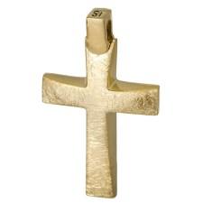 Σταυροί Βάπτισης - Αρραβώνα Χρυσός σταυρός Κ14 ματ 026766 026766 Ανδρικό Χρυσός 14 Καράτια