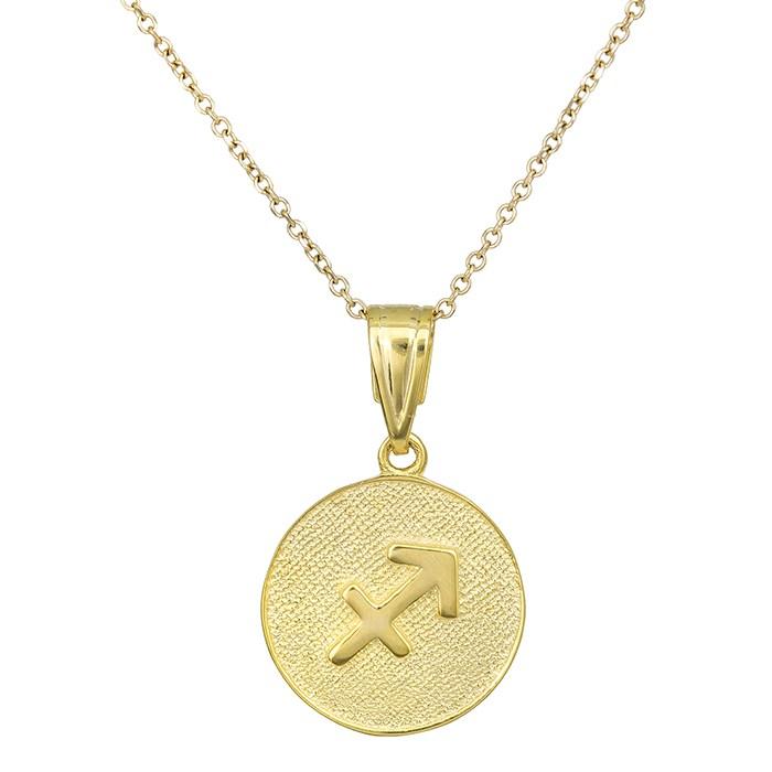 Χρυσό κολιέ Κ9 Τοξότης 027750 027750 Χρυσός 9 Καράτια