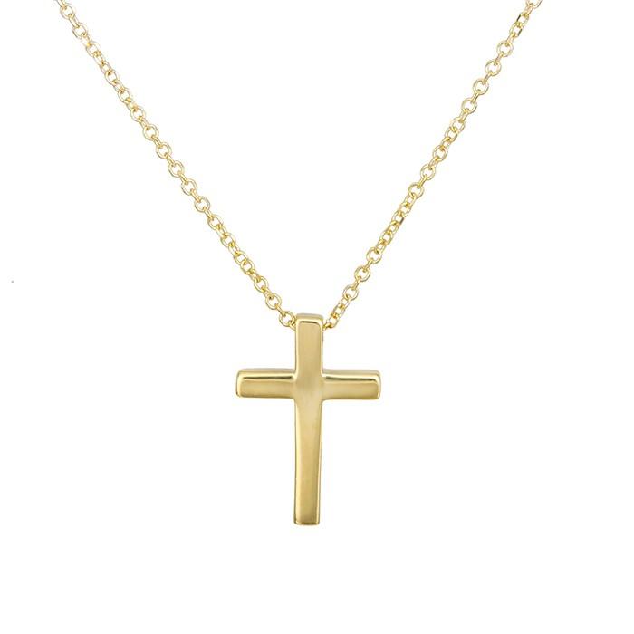 Χρυσό γυναικείο κολιέ Κ14 σταυρουδάκι 027883 027883 Χρυσός 14 Καράτια
