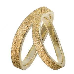 Ζαγρέ χρυσές βέρες Κ14 028461 028461 Χρυσός 14 Καράτια