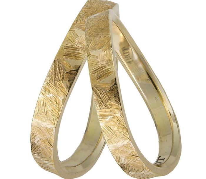 Χειροποίητες βέρες γάμου Κ14 028462 028462 Χρυσός 14 Καράτια