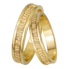 Χρυσές βέρες με ανάγλυφο σχέδιο Κ14 028465 028465 Χρυσός 14 Καράτια