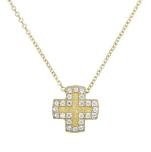 Χρυσό κολιέ Κ14 σταυρουδάκι με ζιργκόν 028897 028897 Χρυσός 14 Καράτια