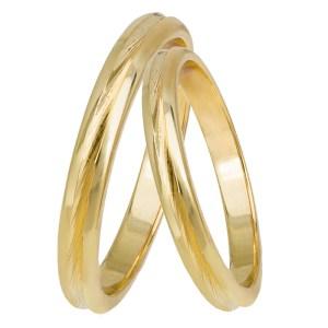 Χρυσές βέρες γάμου Κ14 029337 029337 Χρυσός 14 Καράτια