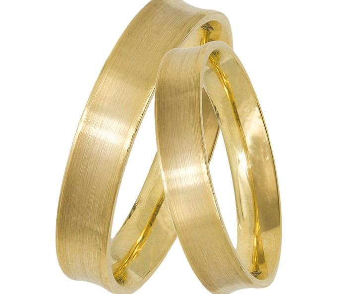 Χρυσές ματ βέρες Κ14 029341 029341 Χρυσός 14 Καράτια