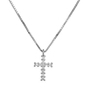 Γυναικείος σταυρός με μπριγιάν 18Κ 029538C 029538C Χρυσός 18 Καράτια