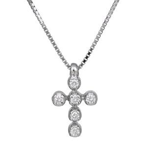 Λευκόχρυσος σταυρός με διαμάντια 18Κ 029814 029814 Χρυσός 18 Καράτια