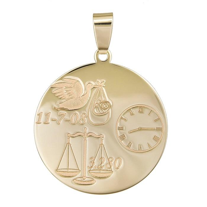 Χρυσό κρεμαστό Κ14 νεογέννητο 029818 029818 Χρυσός 14 Καράτια