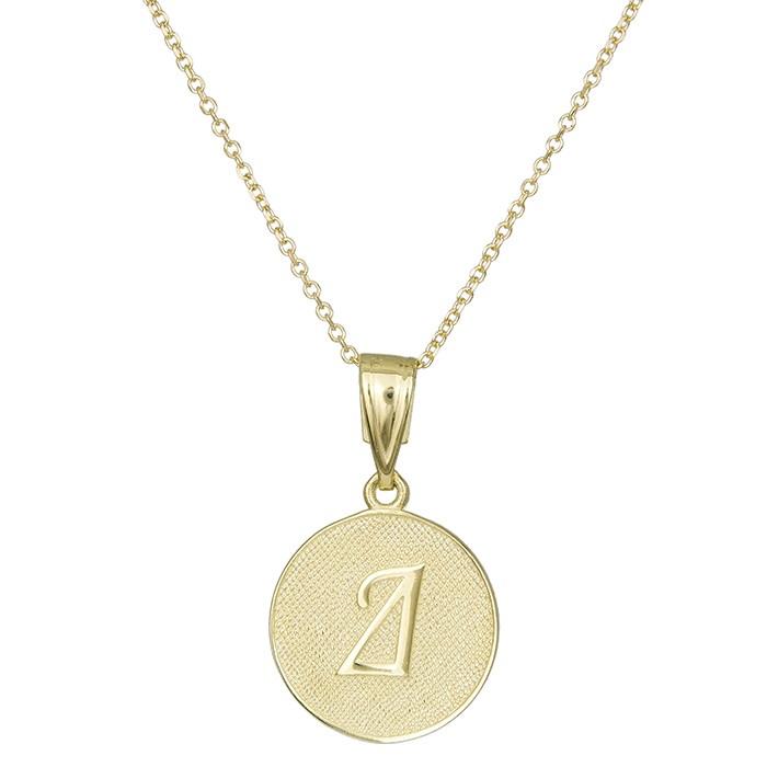 Χρυσό μονόγραμμα Δ Κ9 030425 030425 Χρυσός 9 Καράτια