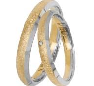 Δίχρωμες βέρες γάμου Κ14 031422 031422 Χρυσός 14 Καράτια μεμονωμένο τεμάχιο