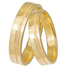 Χρυσές βέρες γάμου Κ14 με διαμαντάρισμα 031426 031426 Χρυσός 14 Καράτια μεμονωμένο τεμάχιο