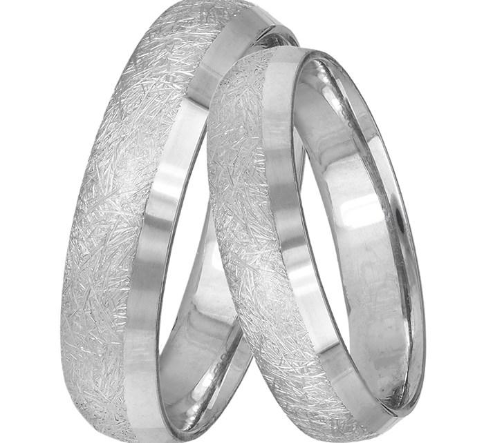 Βέρες γάμου Κ14 λευκόχρυσες 031427 031427 Χρυσός 14 Καράτια μεμονωμένο τεμάχιο