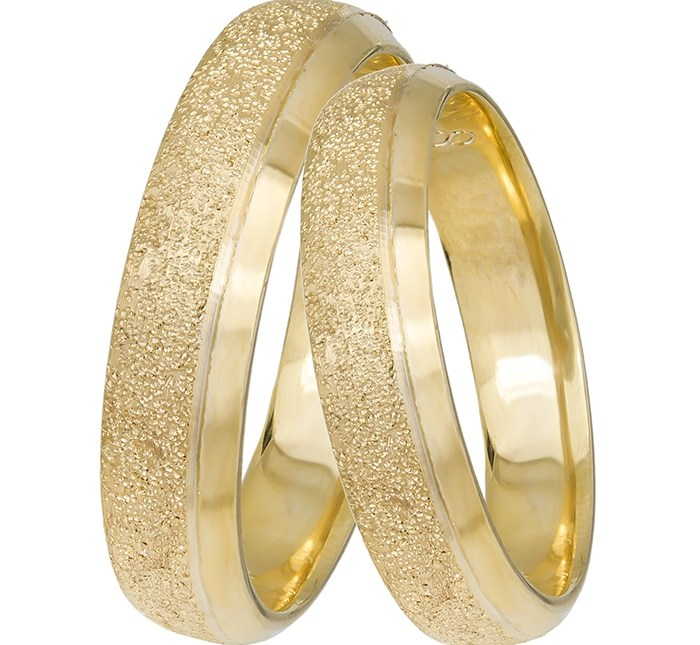 Βέρες γάμου χρυσές Κ14 πομπέ 031428 031428 Χρυσός 14 Καράτια μεμονωμένο τεμάχιο