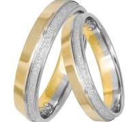 Δίχρωμες βέρες γάμου Κ14 με διαμαντάρισμα 031429 031429 Χρυσός 14 Καράτια μεμονωμένο τεμάχιο