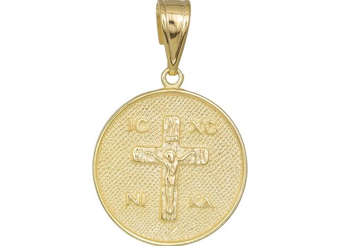 Χρυσό φυλακτό Κ14 με τον Εσταυρωμένο 031994 031994 Χρυσός 14 Καράτια