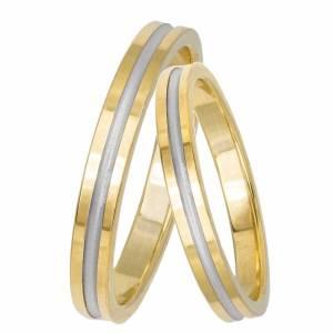 Βέρες δίχρωμες γάμου- αρραβώνα Κ14 033059 033059 Χρυσός 14 Καράτια μεμονωμένο τεμάχιο