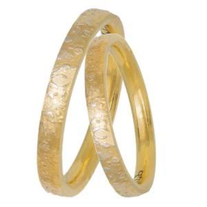 Χρυσές βέρες γάμου Κ14 ανάγλυφες 033060 033060 Χρυσός 14 Καράτια μεμονωμένο τεμάχιο