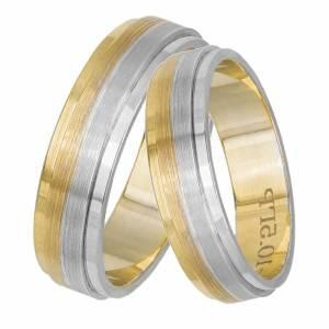 Δίχρωμες βέρες γάμου Κ14 033063 033063 Χρυσός 14 Καράτια μεμονωμένο τεμάχιο