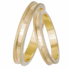 Βέρες γάμου Κ14 χρυσές με διαμαντάρισμα 033068 033068 Χρυσός 14 Καράτια μεμονωμένο τεμάχιο