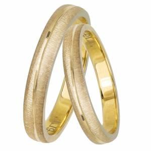 Χρυσές ματ βέρες γάμου Κ14 033069 033069 Χρυσός 14 Καράτια μεμονωμένο τεμάχιο