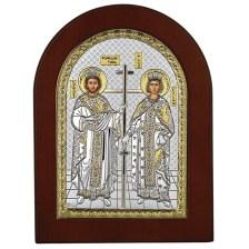 Εικόνα Άγιος Κωνσταντίνος και Αγία Ελένη ασημένια 925 033595 033595 Ασήμι